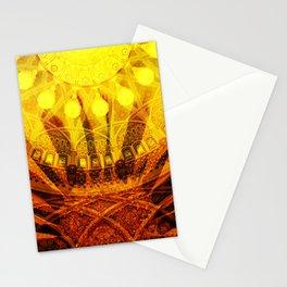 Oriental Blossom Flower yellow orange Ornaments Stationery Cards
