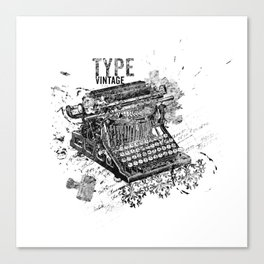 Vintage Typewriter - Type Vintage Canvas Print