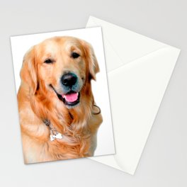 Beautiful Dog Golden Retriever and Your Bone Stationery Cards