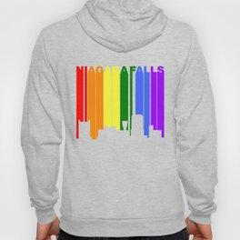 Niagara Falls New York Gay Pride Rainbow Skyline Hoody