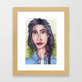 future ex-girlfriend: Girl Next Door Framed Art Print