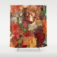 Autumn Inspired Torn Scraps 2492 Shower Curtain