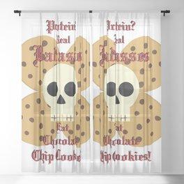Real Badasses Eat Cookies! Sheer Curtain