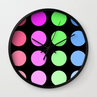 gradient Wall Clocks featuring Gradient by SnakeBees