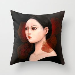 She likes to be alone Throw Pillow
