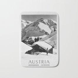 retro noir et blanc Austria Bath Mat