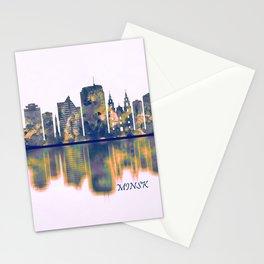 Minsk Skyline Stationery Cards