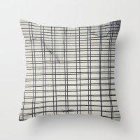 grid Throw Pillows featuring Grid by farsidian