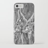 coyote iPhone & iPod Cases featuring Coyote by Patrick Entenmann