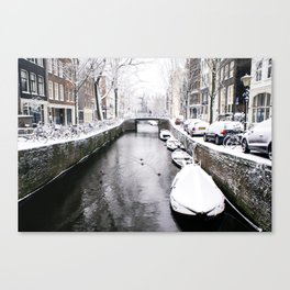 AMSTERDAM / Winter on the Canals Canvas Print