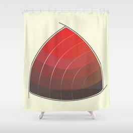 Le Rouge-Orangé (ses diverses nuances combinées avec le noir) Vintage Remake, no text Shower Curtain
