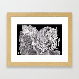 Flowerdragon Framed Art Print