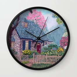 Essex House Cottage by Ave Hurley Wall Clock