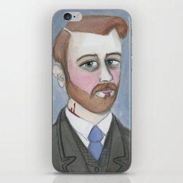 Bram Stoker and the Vampire's Kiss iPhone Skin