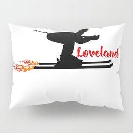 Ski speeding at Loveland Pillow Sham