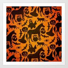Halloween Spook Unicorn Art Print