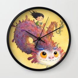 The Girl and the Book Wall Clock