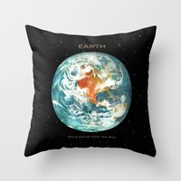 earth Throw Pillows featuring Earth by Terry Fan