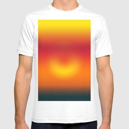 sunset abstract T-shirt