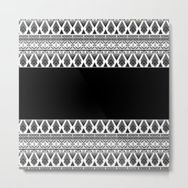 Black and white patchwork .2 Metal Print