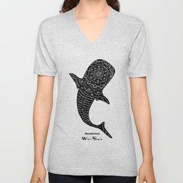Marokintana - Whale Shark II Unisex V-Neck