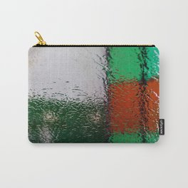 Through the window: Green, red, white colors abstract Carry-All Pouch