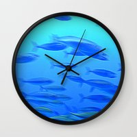 school Wall Clocks featuring School by LilyMichael Photography