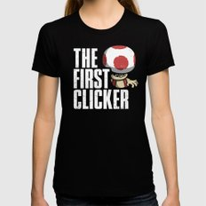The First Clicker Black MEDIUM Womens Fitted Tee