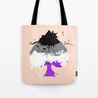 asexual Tote Bags featuring Ace of Spades by Kata (koomalaama)