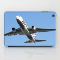 airplanes iPad Cases featuring ABX Air Boeing 767-232(BDSF) Miami Take-off Florida Airplanes  by Yan David