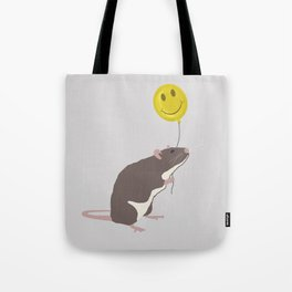 Rat with a Happy Face Balloon Tote Bag