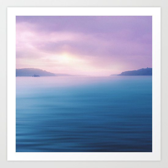 Sea - Pastel Art Print