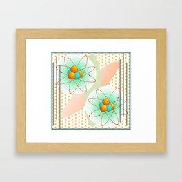 Mid-Century Modern Art Atomic 1.0 Framed Art Print