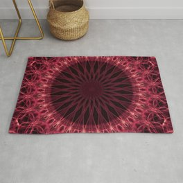 Mandala in dark red and pink tones Rug