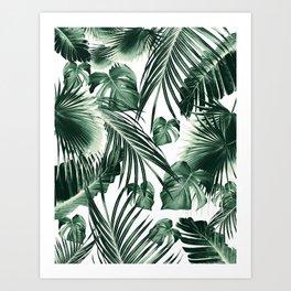 Tropical Jungle Leaves Dream #7 #tropical #decor #art #society6 Art Print