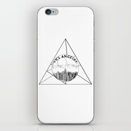 Graphic Geometric Shape Gray Los Angeles in a Bottle iPhone Skin