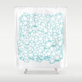 Random Foam (Dirty Tiffany's) Shower Curtain
