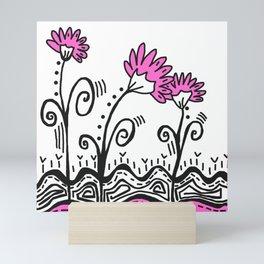 Three Spring Flowers - Pink Mini Art Print