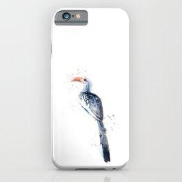 Yellow billed hornbill bird iPhone Case