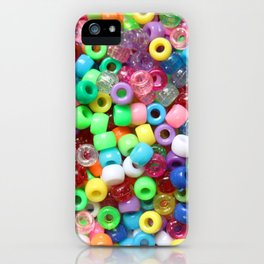 Rainbow beads! Decora fun! iPhone Case