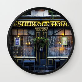 The Sherlock Holmes Pub London Wall Clock