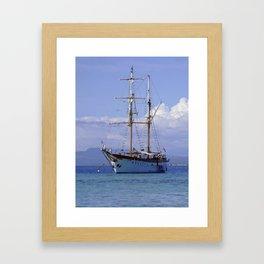 Ra Marama, brigantine tall ship, Fiji Framed Art Print