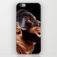 lebron iPhone & iPod Skins featuring THE KING by THEMAD3
