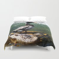ducks Duvet Covers featuring Ducks by Siriusreno