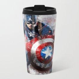 America Captain watercolor;-) Metal Travel Mug