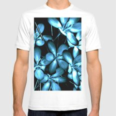 Wildflowers In The Night Light MEDIUM White Mens Fitted Tee