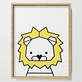 Lion, geometric lion, Animal, Minimal, kids, modern art,Trendy decor, Nursery, Interior, Wall art, Serving Tray