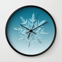 Blue Green Ice Crystal Wall Clock