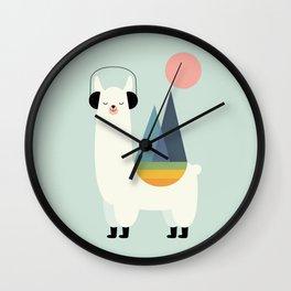 Llamazing Wall Clock