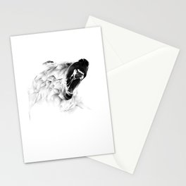 Angry Bear Stationery Cards
